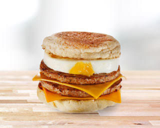 Double Sausage & Egg McMuffin
